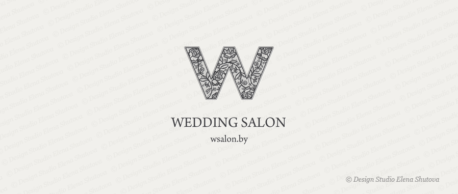 Дизайн логотипа wedding salon